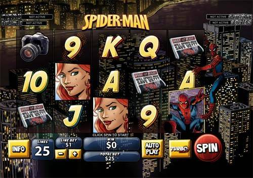 Spiderman free slot