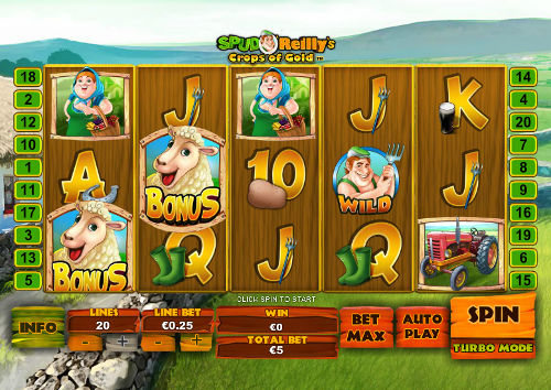 Spud OReillys Crops of Gold free slot