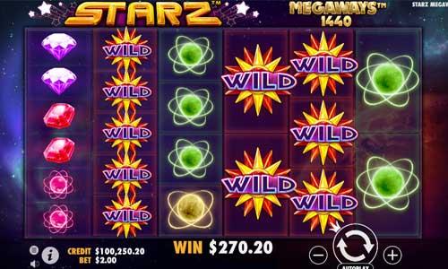 Starz Megawayssticky wilds slot
