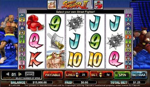 Street Fighter 2 free slot