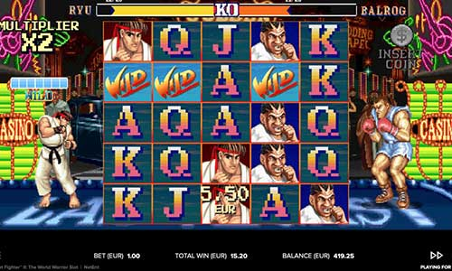 Street Fighter 2 The World Warriorcluster pays slot