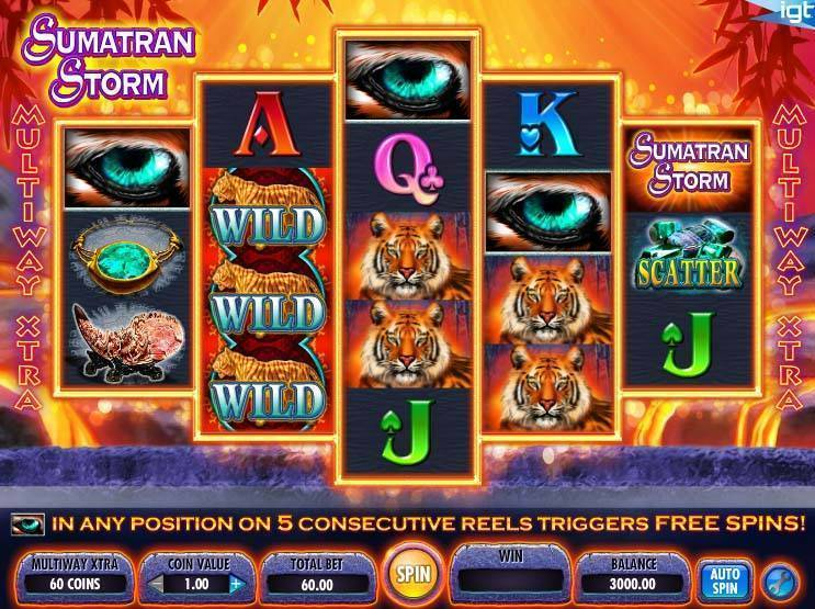 Sumatran Storm free slot