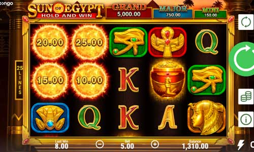 Sun of Egyptjackpot slot