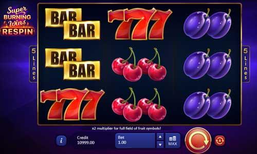 Super Burning Wins Respin free slot