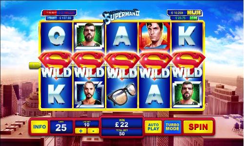 Superman II free slot