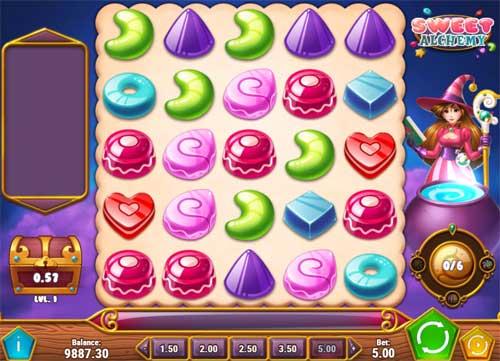 Sweet Alchemycluster pays slot