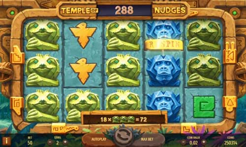 Temple of Nudges free slot