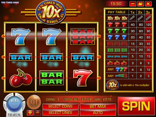 Ten Times Wins free slot