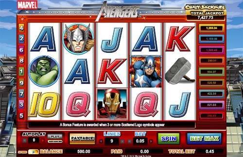 The Avengers free slot