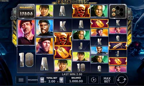 The Expendables Megawaysincreasing multiplier slot