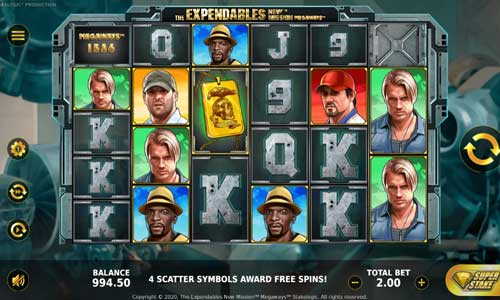 The Expendables New Mission Megawayscascading reels slot