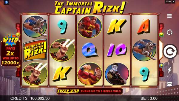 The Immortal Captain Rizk free slot