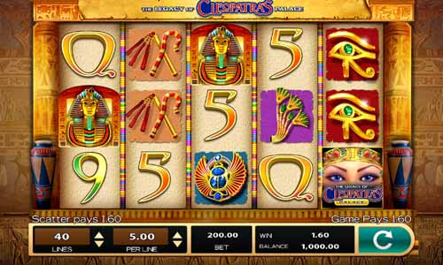 The Legacy of Cleopatras Palace free slot