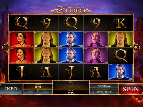 The Mask of Zorro free slot
