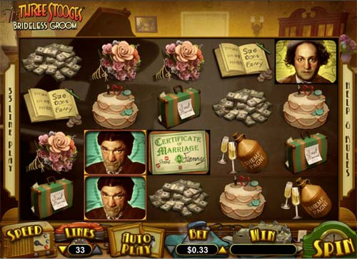The Three Stooges Brideless Groom free us slot