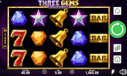 Three Gemswin both ways slot