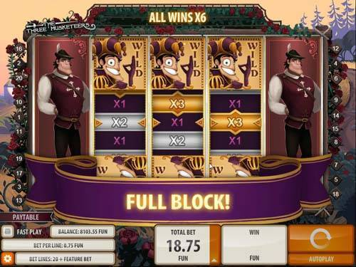 Three Musketers casino slot