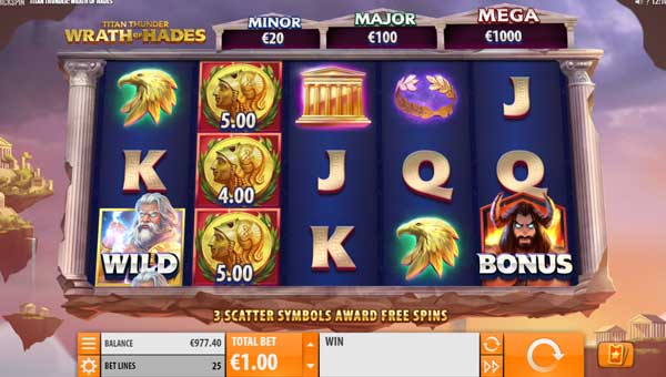 Titan Thunder Wrath of Hadesjackpot slot