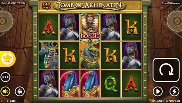 Tomb of Akhenaten free slot