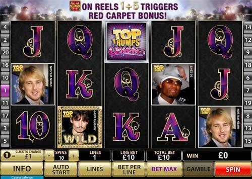 Top Trump Celebs free slot