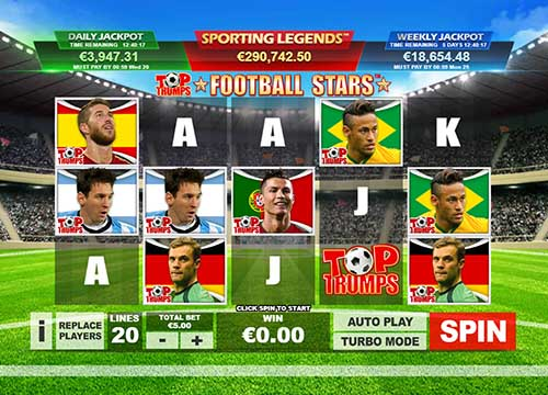 Top Trumps Football Stars free slot