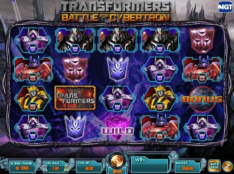 Transformers free slot