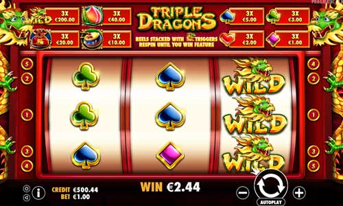 Triple Dragons free slot