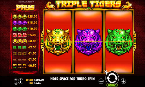 Triple Tigers free slot