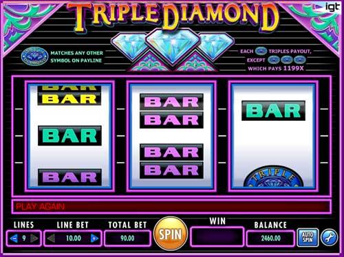Triple Diamond free slot