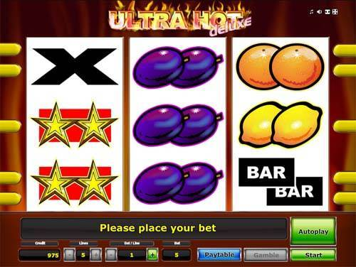 top online casino ultra hot deluxe