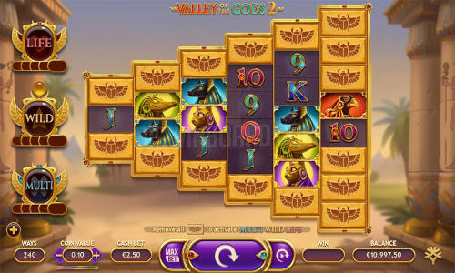 Valley of the Gods 2increasing multiplier slot