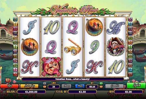 Venetian Rose free slot