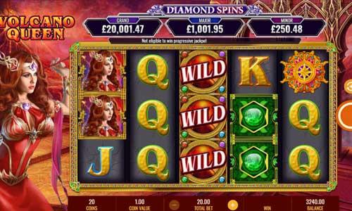 Volcano Queen Diamond Spins free slot