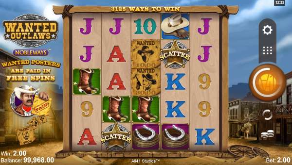 Wanted Outlaws free slot