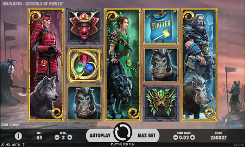 Warlords Crystals of Powersticky wilds slot