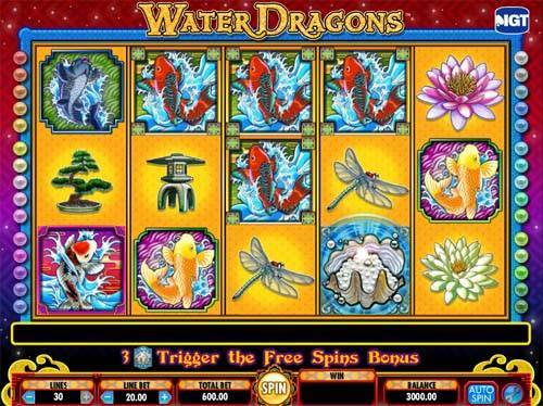 Water Dragons free slot