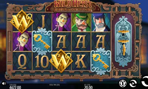 Wild Heist at Peacock Manor free slot