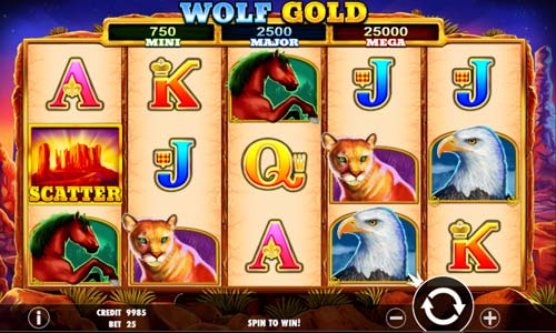 Wolf Goldcolossal symbols slot