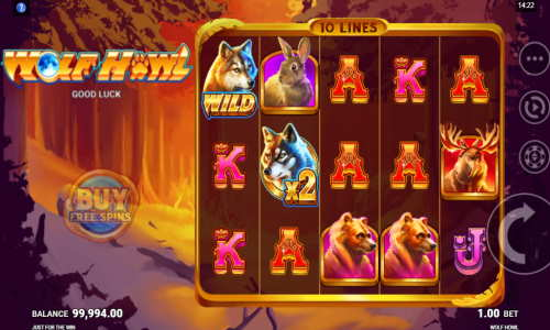 Wolf Howlbuy feature slot