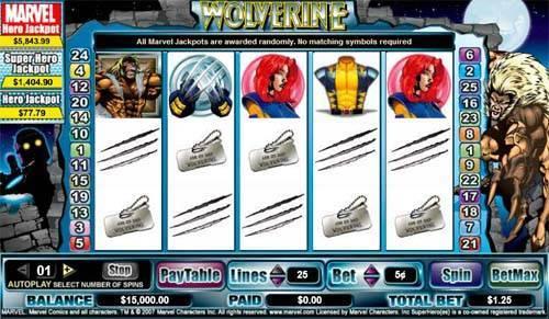 Wolverine free slot