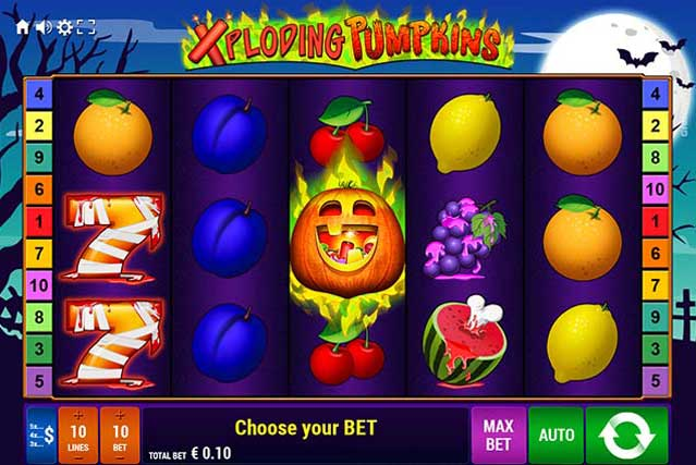 Xploding Pumpkins free slot