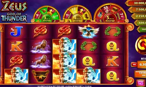 Zeus God of Thunderjackpot slot