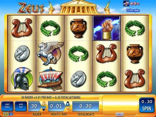 Zeus free slot
