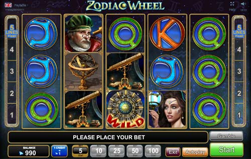 Zodiac Wheel free slot