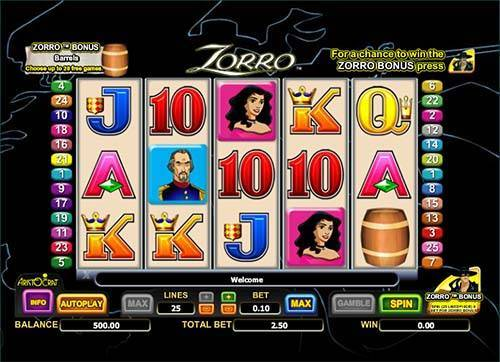 Zorro casino slot